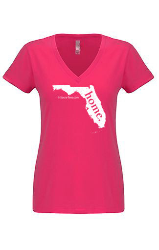 Florida home tshirt - Ladies v neck