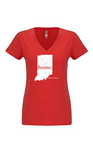 Indiana home tshirt - Ladies v neck