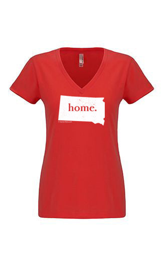 South Dakota home tshirt - Ladies v neck