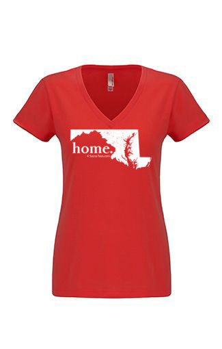 Maryland home tshirt - Ladies v neck