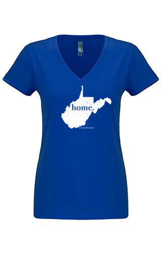 West Virginia home tshirt - Ladies v neck