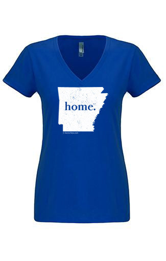 Arkansas home tshirt - Ladies v neck