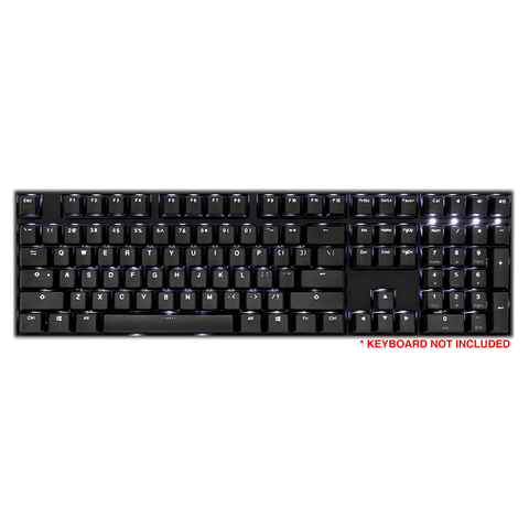 Ducky 108-Key PBT Double Shot Backlit Keycap - Black