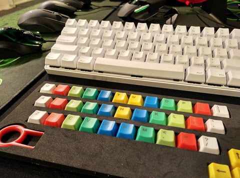 37-Key ABS Rainbow Keycap Set