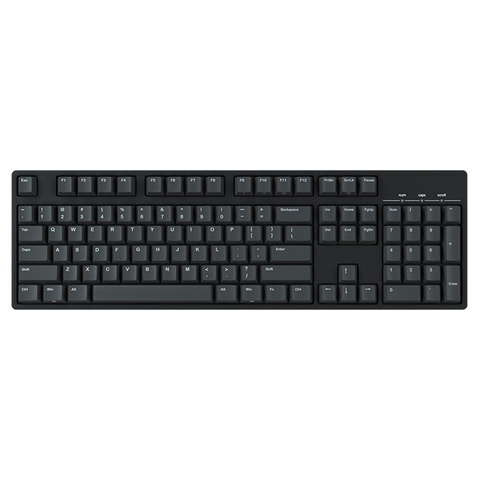 IKBC C104 Cherry MX Mechanical Keyboard (Black/White Frame)