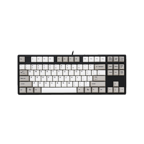 Ducky One TKL PBT Dye-Sub Grey/White Cherry MX Mechanical Keyboard