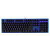 Ducky One Translucent Blue Frame Blue LED Cherry MX Mechanical Keyboard