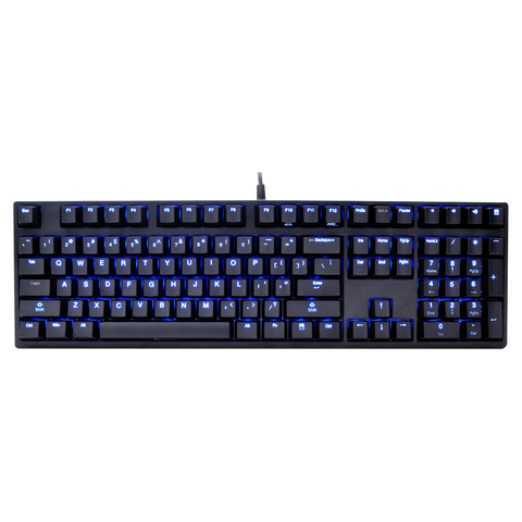 Ducky Zero Shine Blue LED Cherry MX Mechanical Keyboard