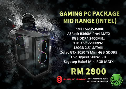 UltimateZone Gaming PC Package 2 - Mid Range
