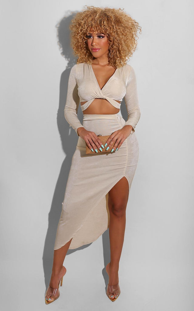 In Time Skirt Set Nude