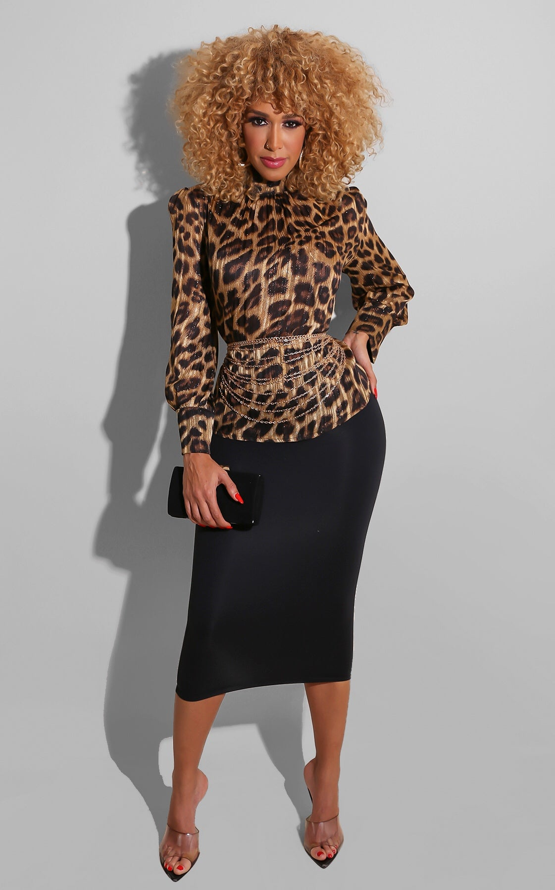 I'm Fancy Cheetah Blouse