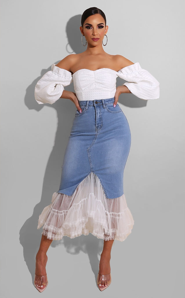 Tutu Denim Skirt