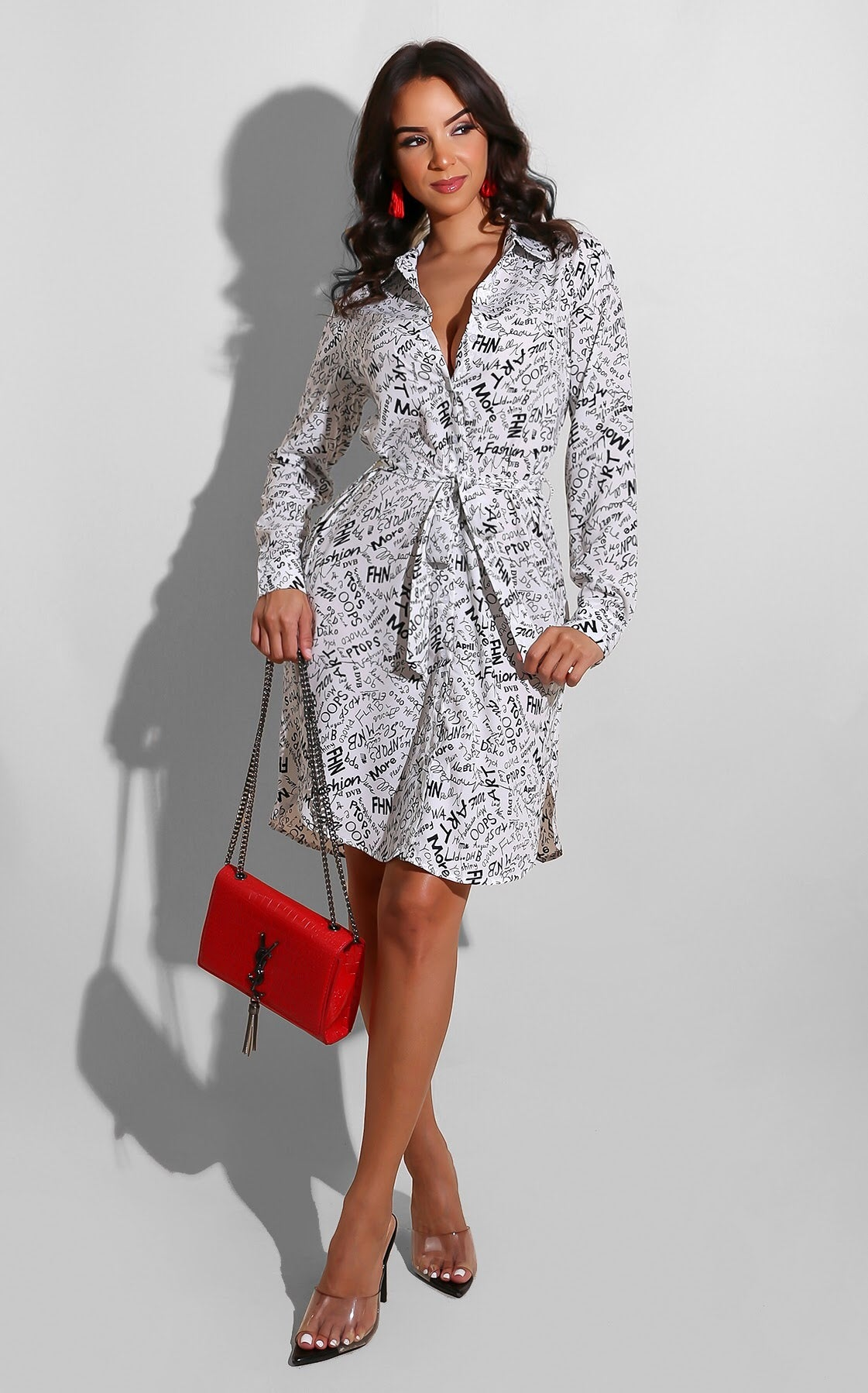Scripted Shirt Dress
