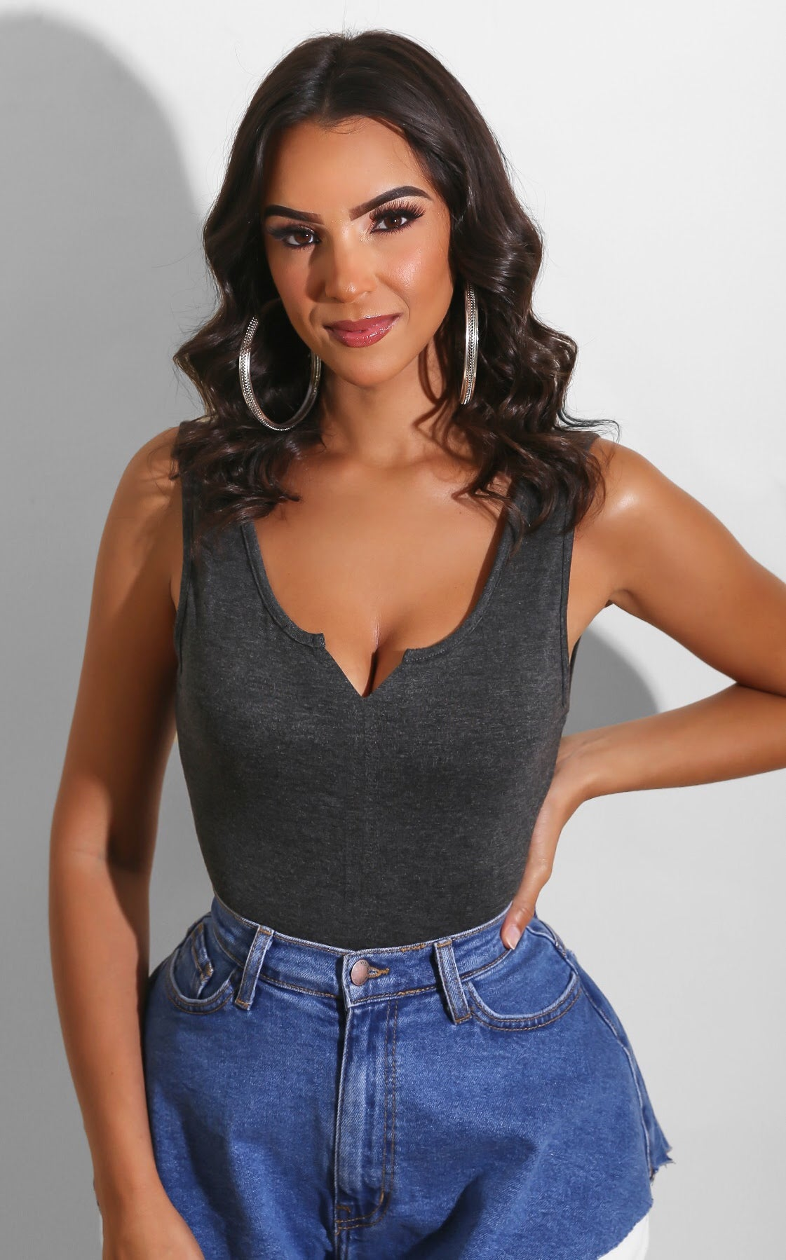 Wear To Go Bodysuit Dark Grey