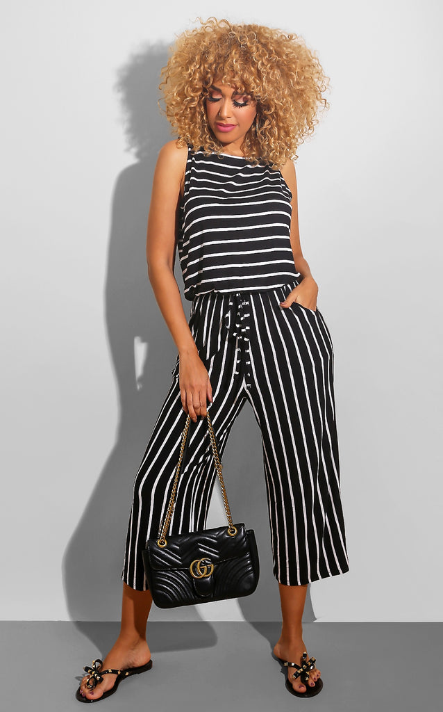 Stay In Line Jumpsuit Black