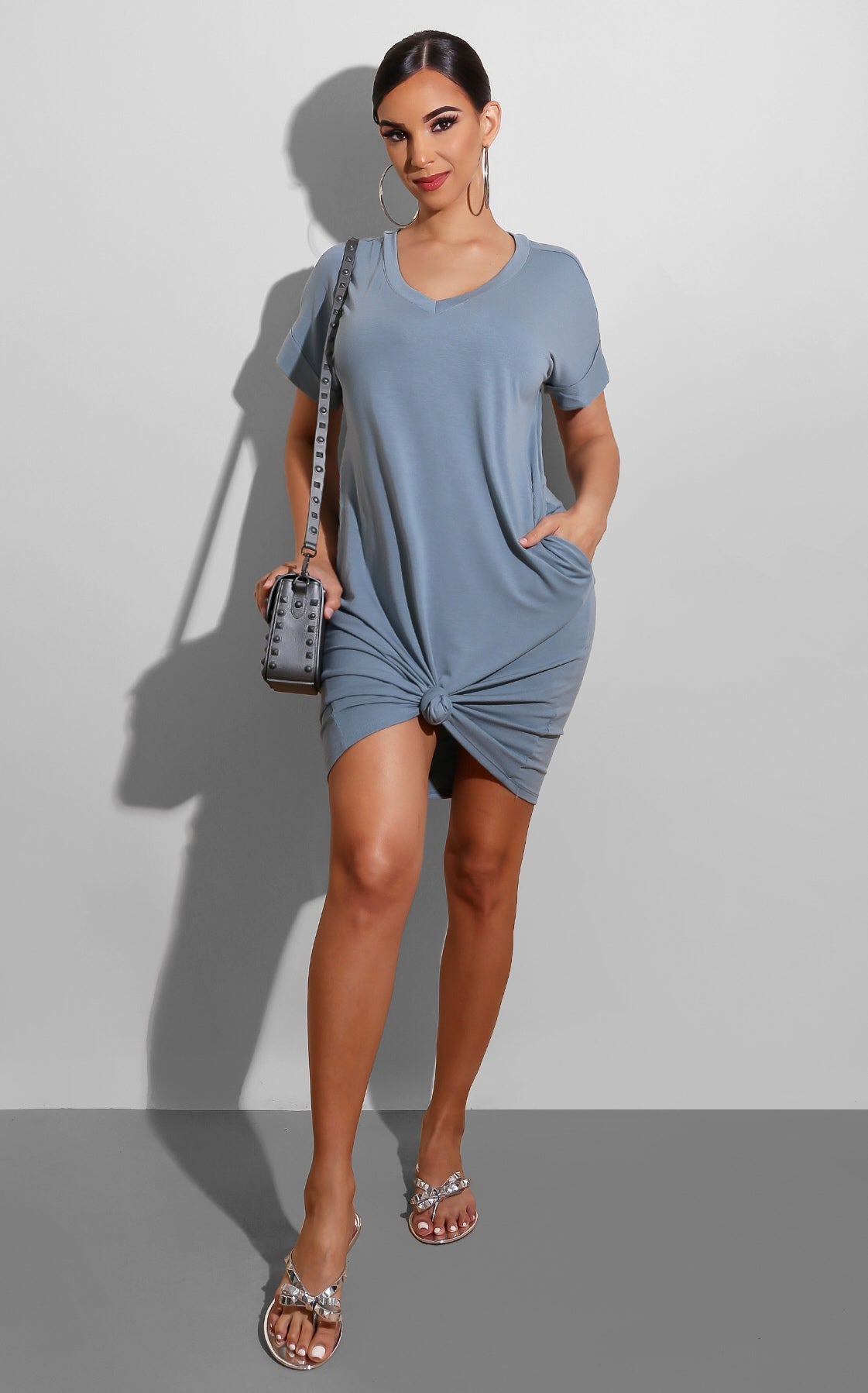 Lounging Dress Slate