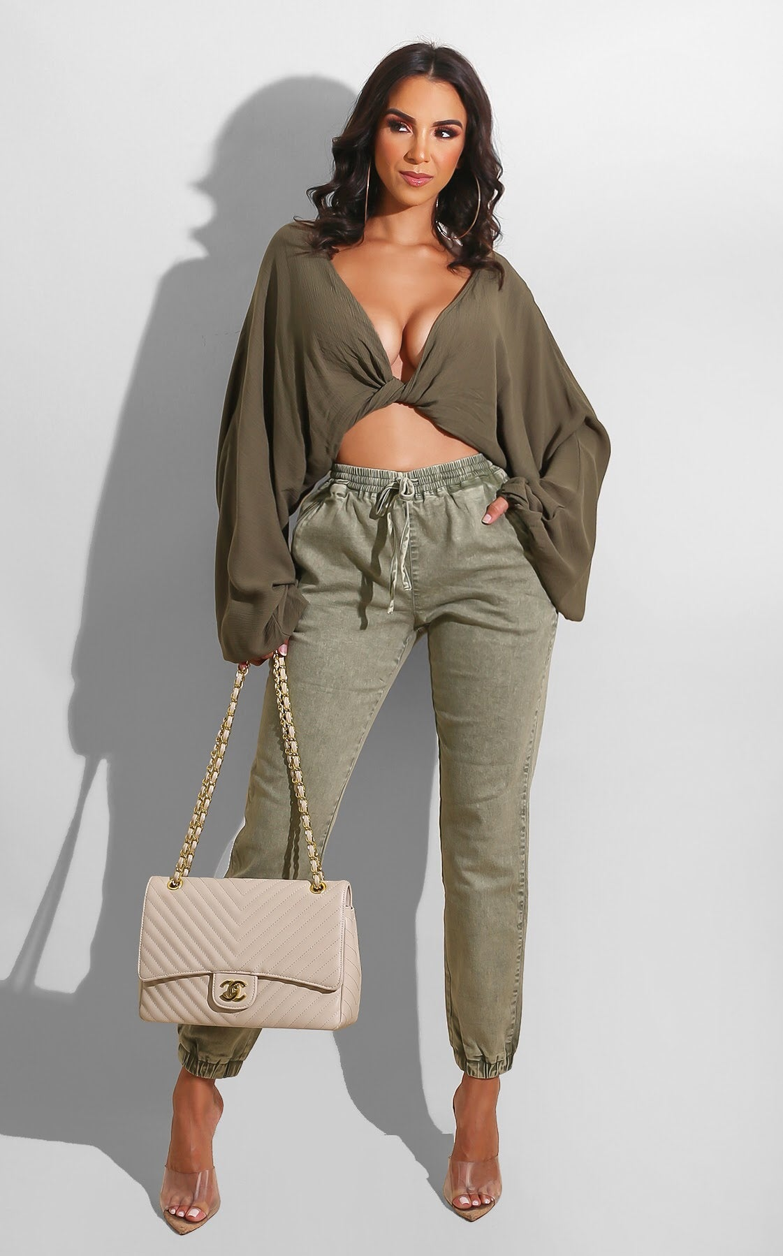 Flow it Well Blouse Olive