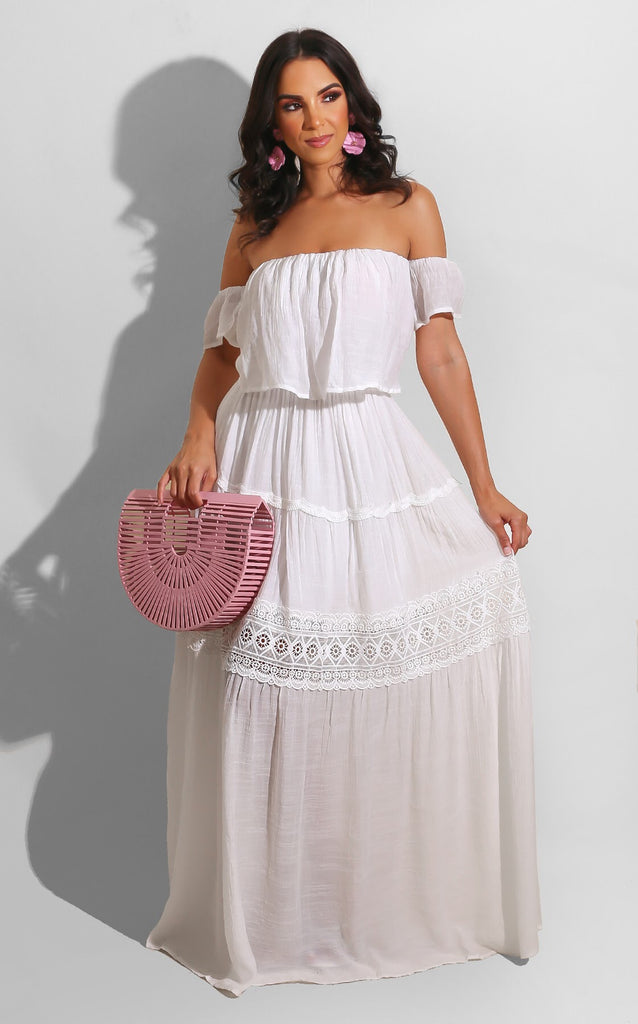 Summer Country Maxi White
