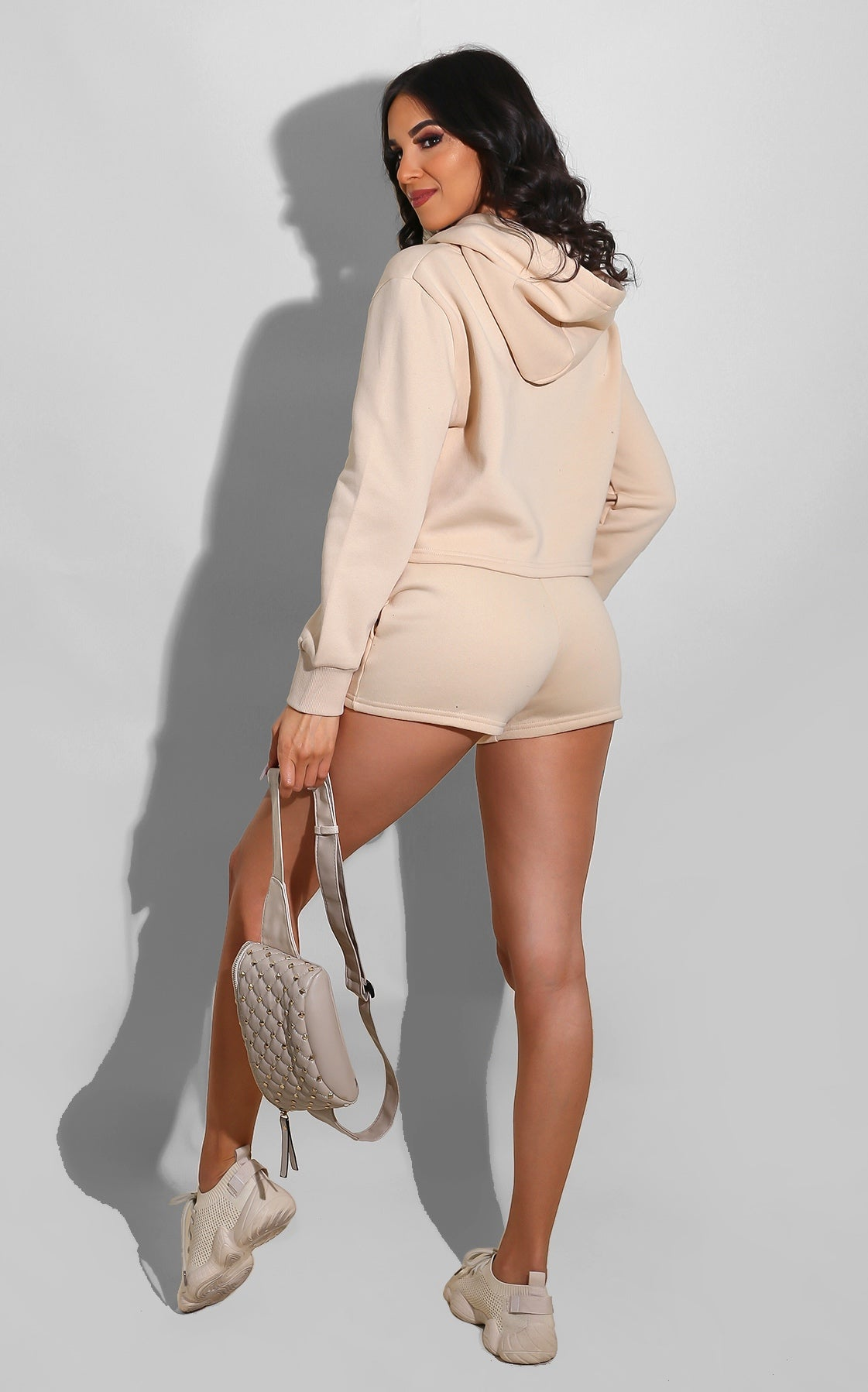 Sweatsuit Short Set Nude