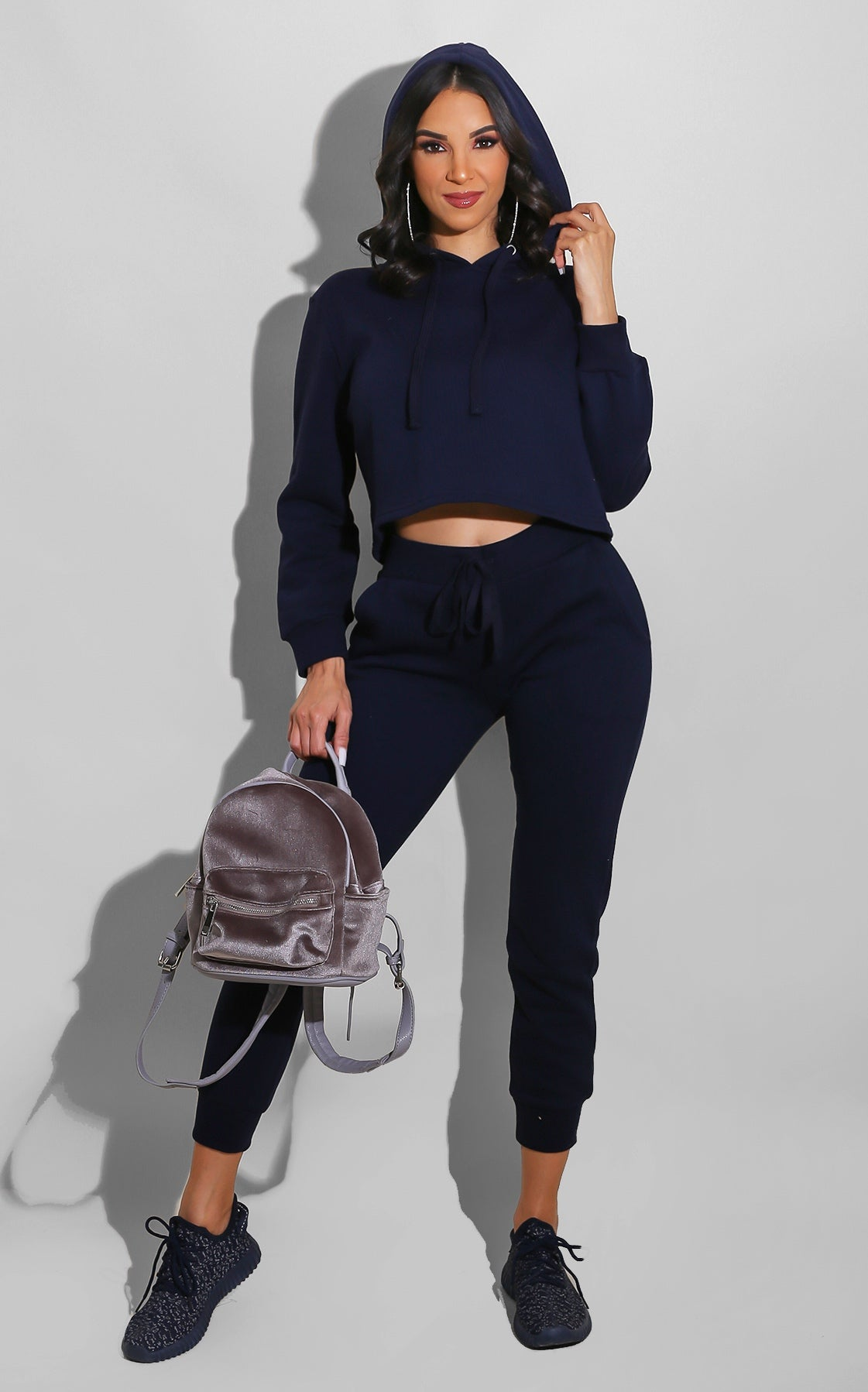 Chill Out Sweatsuit Set Navy