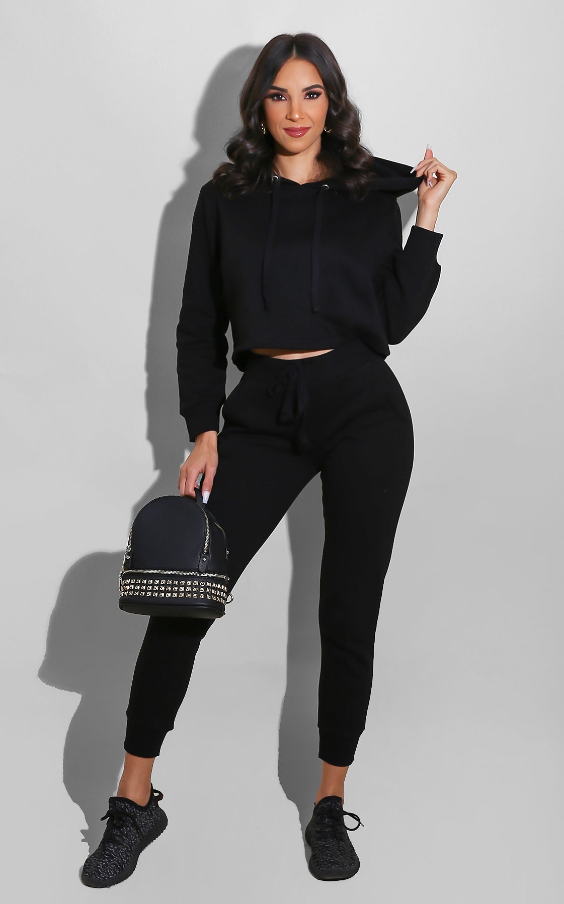 Chill Out Sweatsuit Set Black
