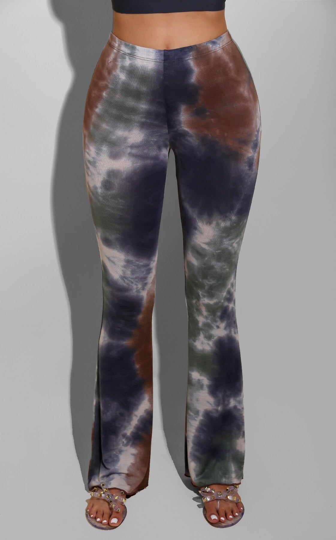 Tie Dye Bell Bottoms Brown