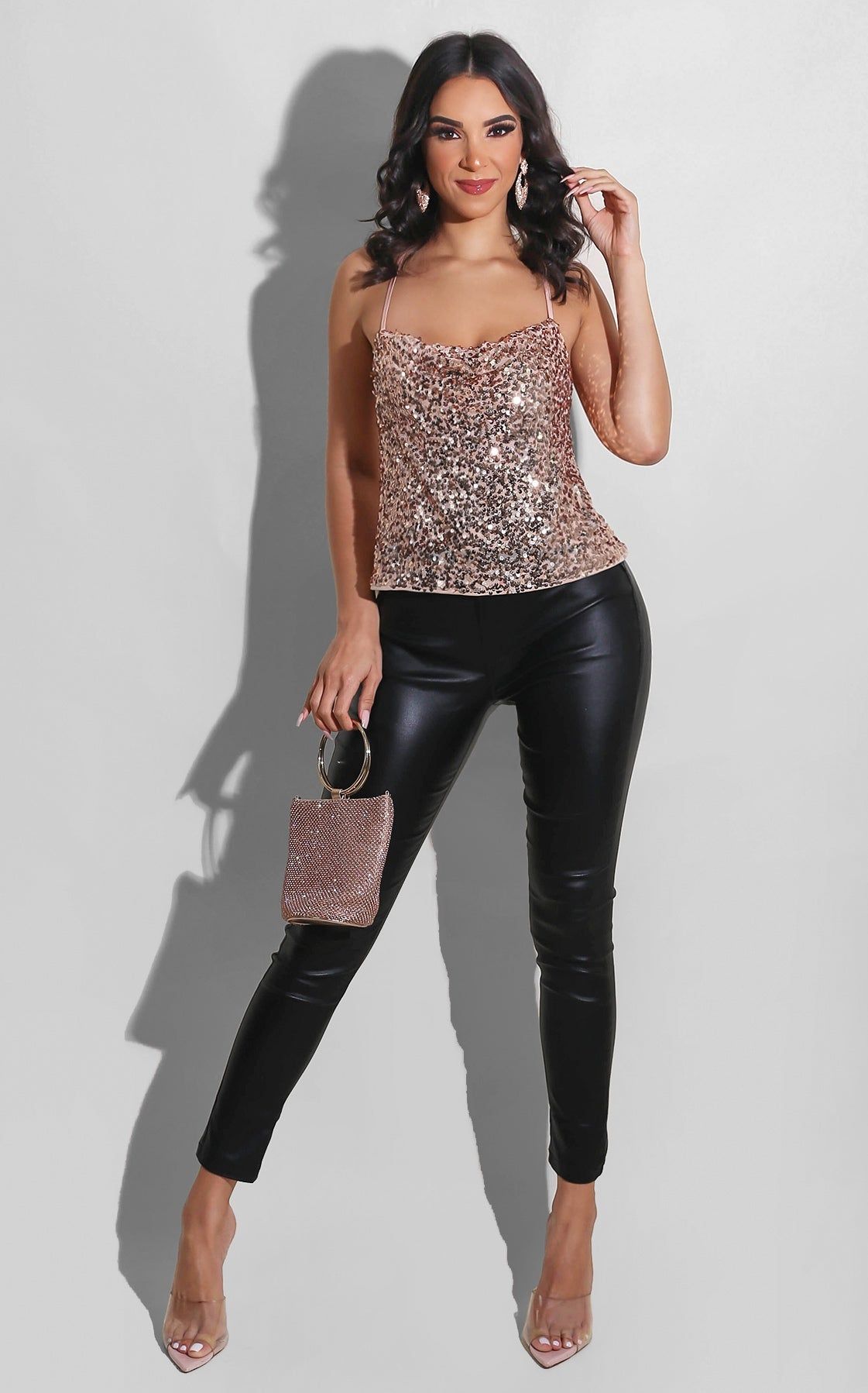 Only One Sequin Top Blush