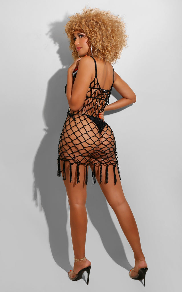 Crochet Fishnet Coverup