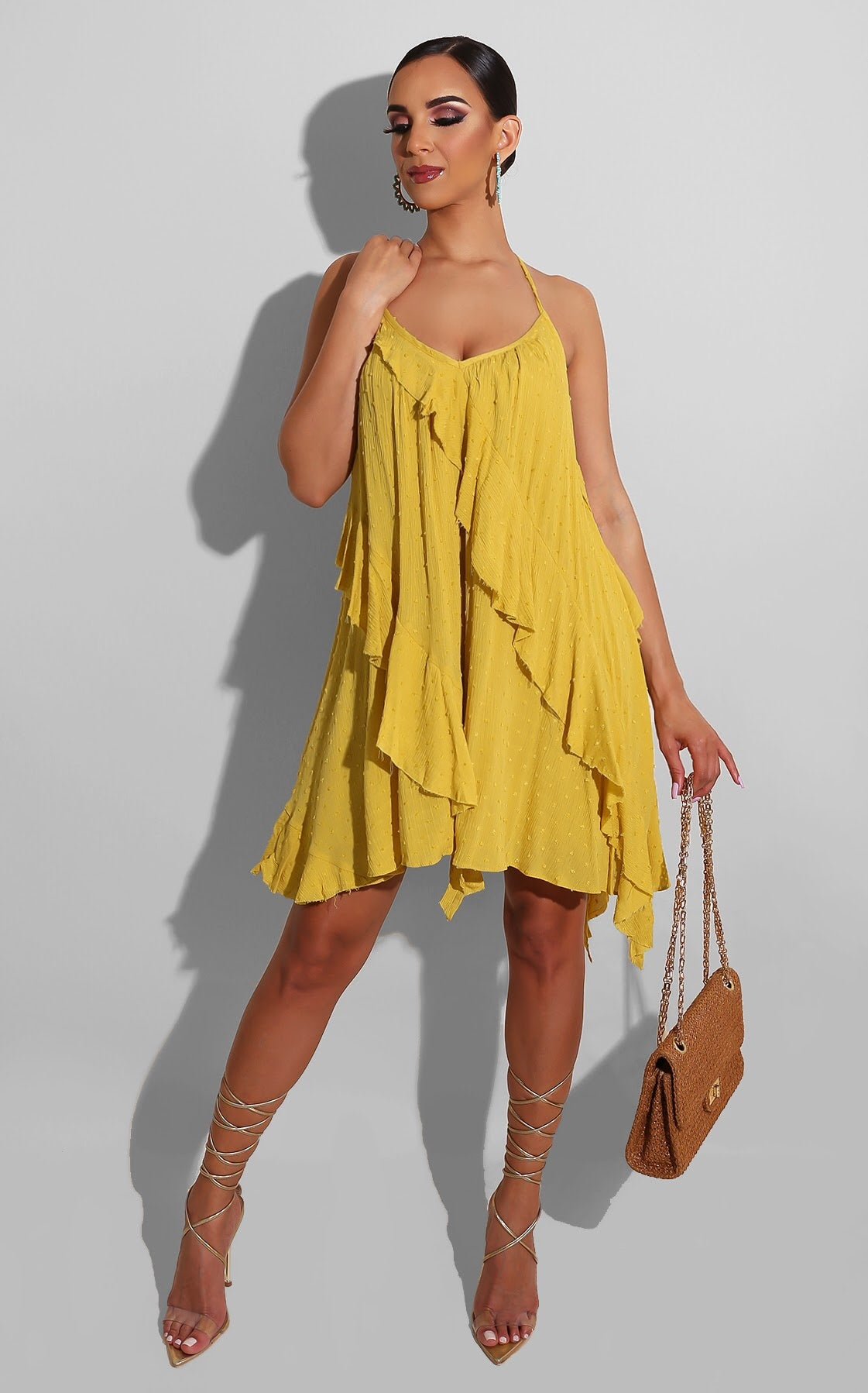 Sunny Days Day Dress Yellow