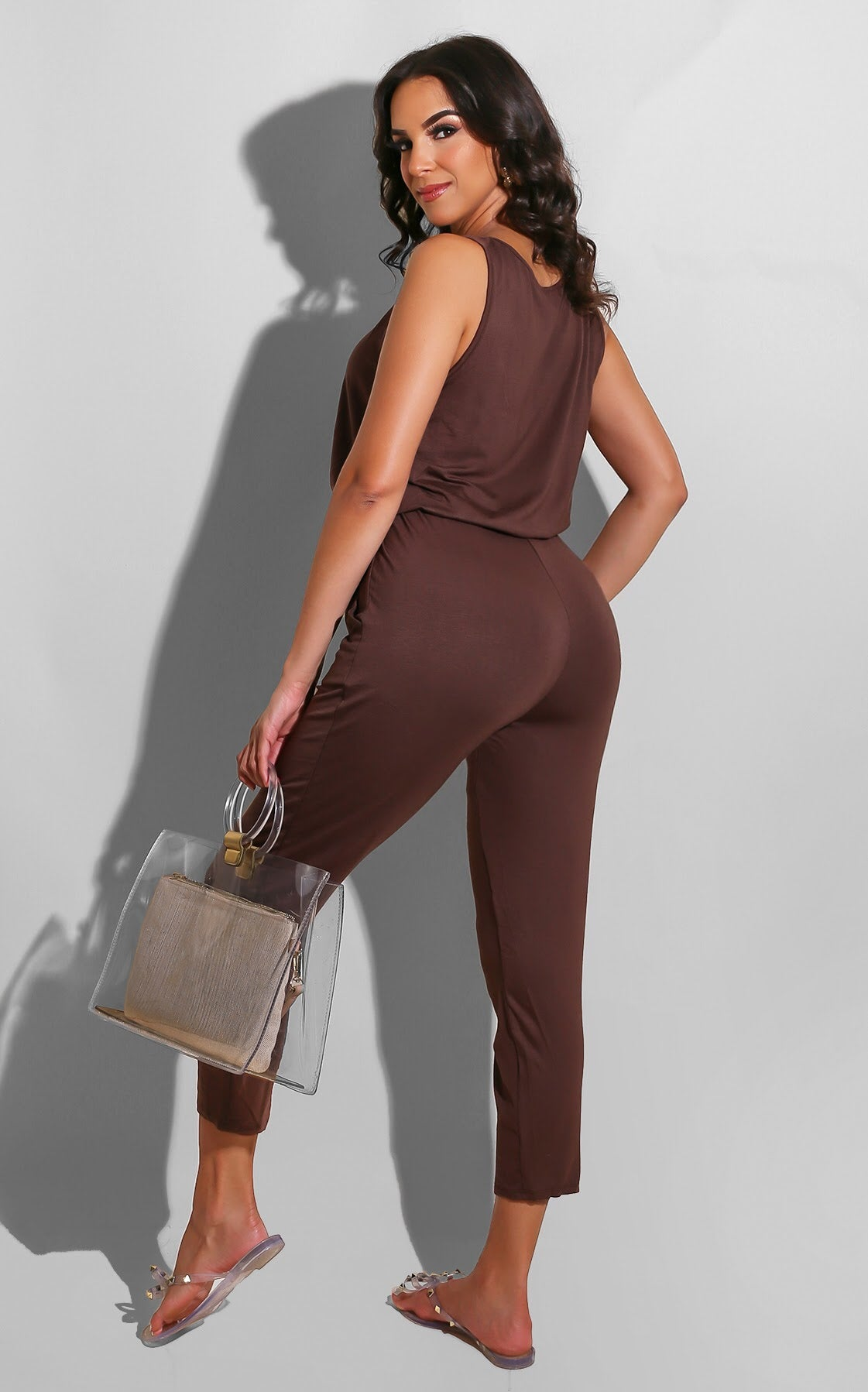 Cozy Runs Jumpsuit Brown