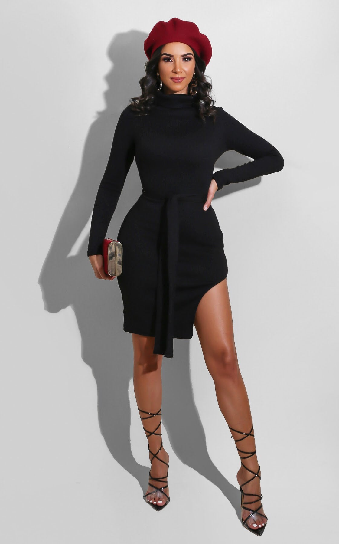Shantel Sweater Dress Black