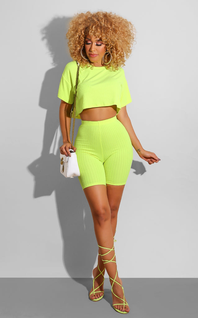 On Chill Set Neon Yellow