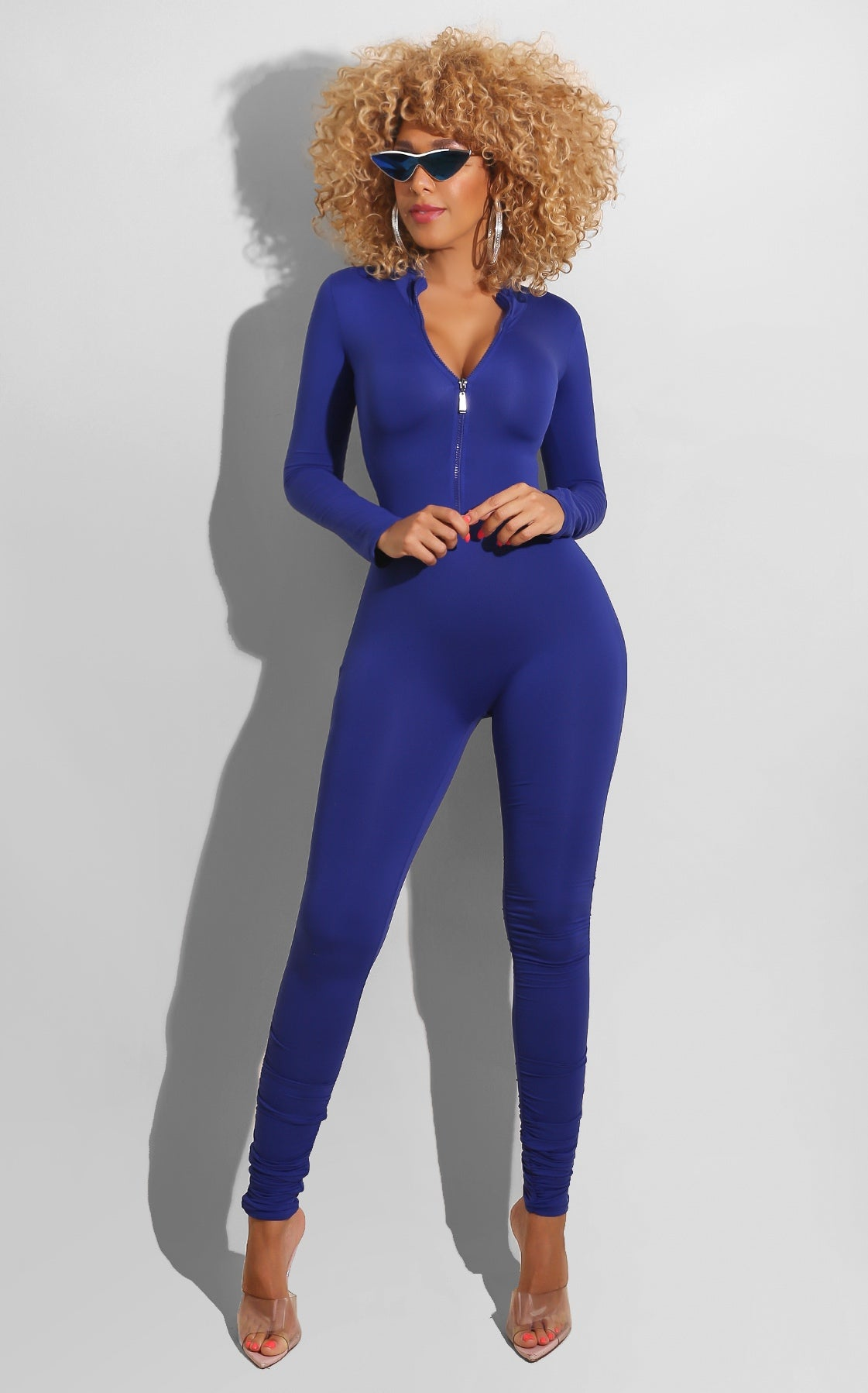 Zip Up Jumpsuit Royal Blue
