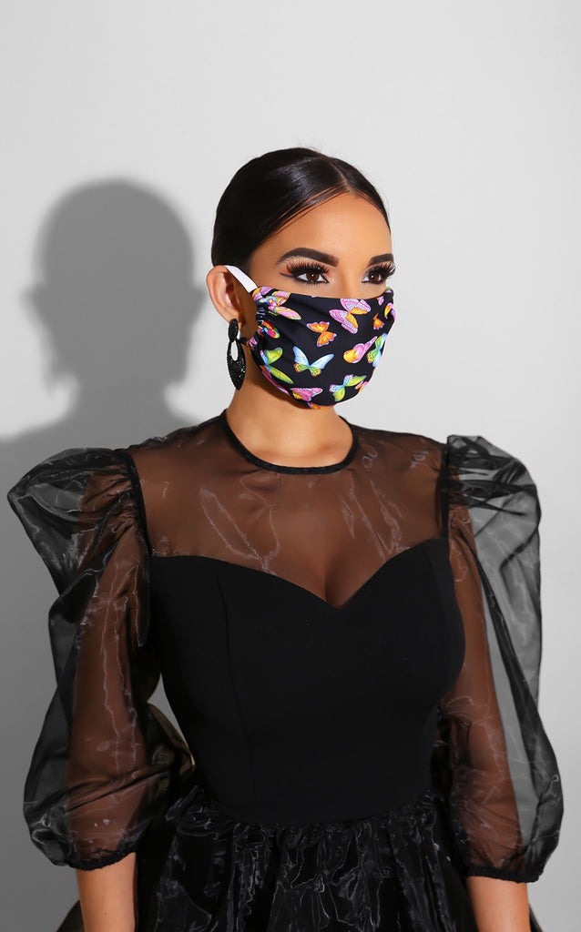 Butterfly Face Mask Black