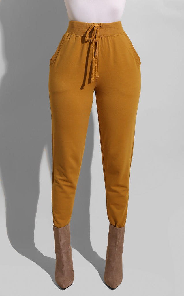 Fall Essential Jogger Mustard