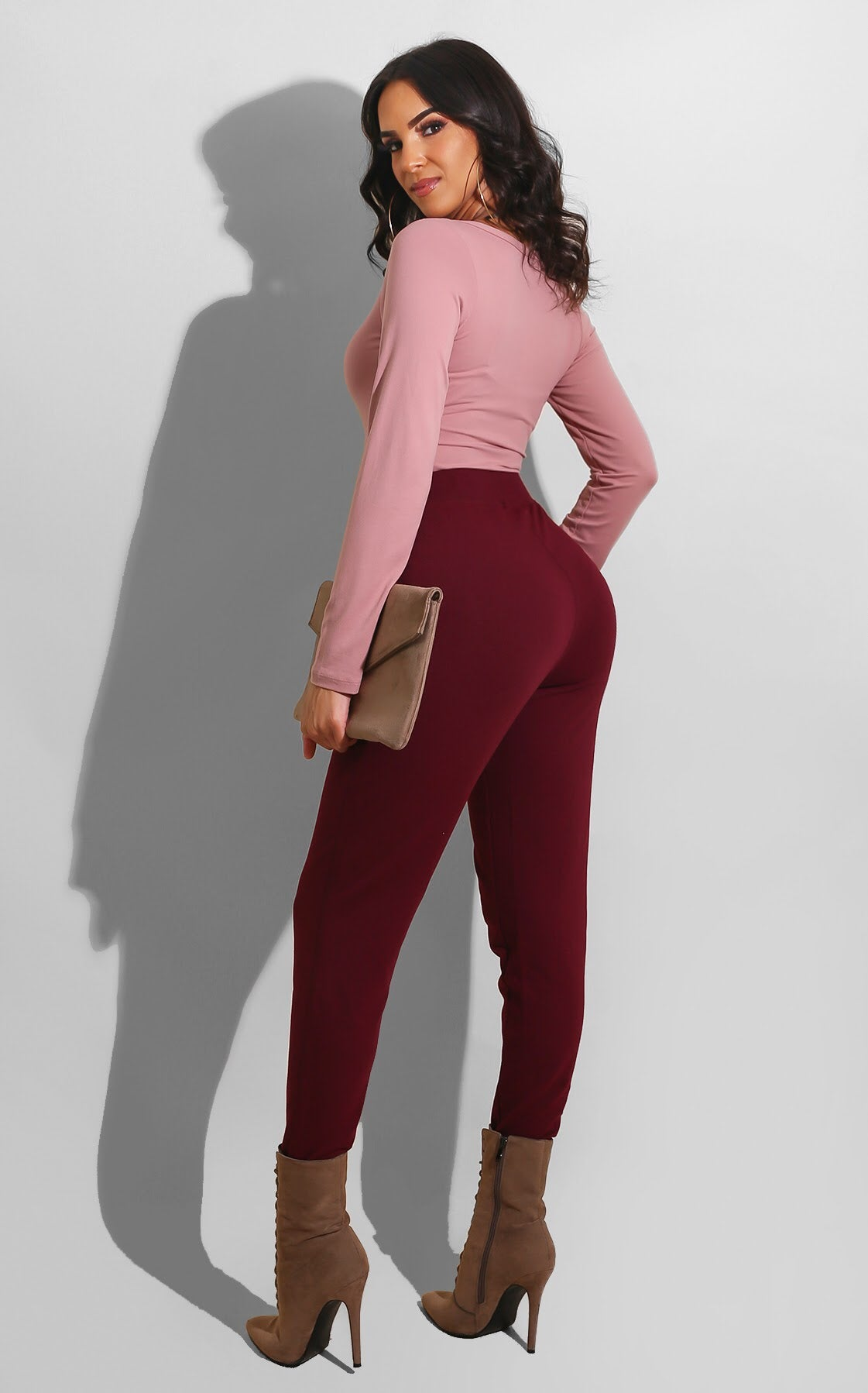 Fall Essential Jogger Burgundy