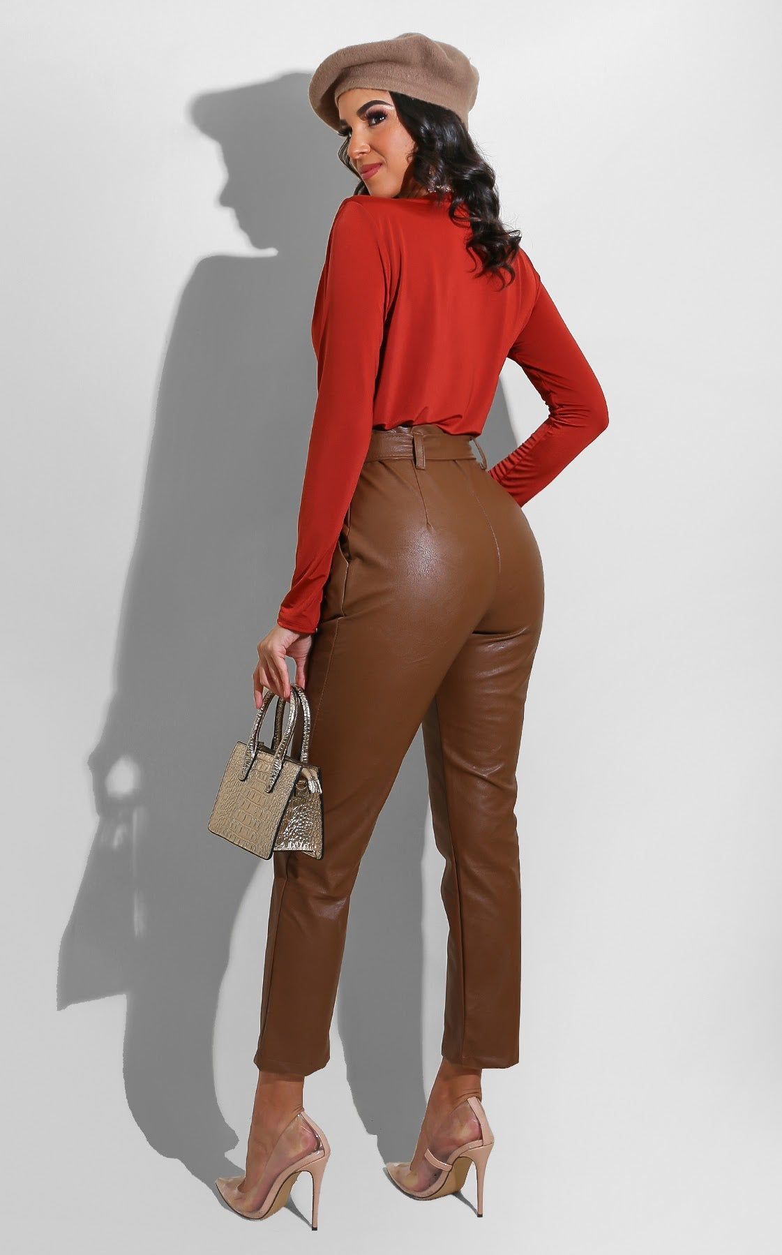 Leather Belted Trouser