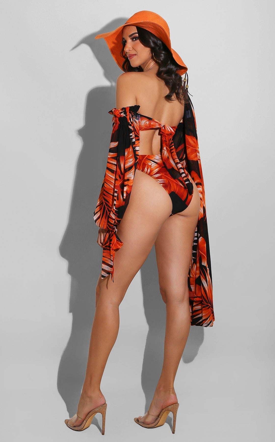 Palm Queen Bikini Set Red