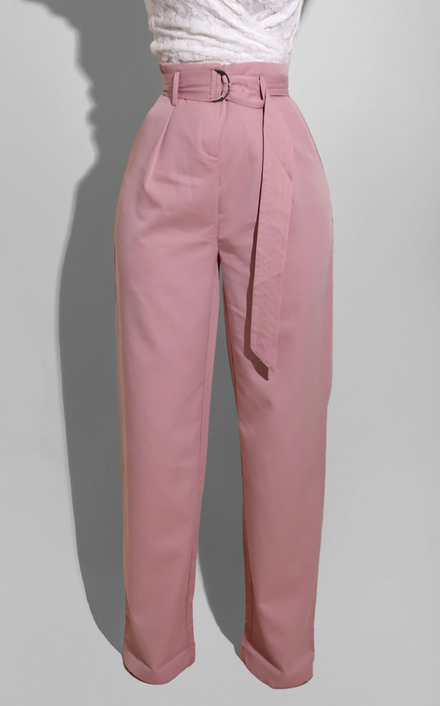 Belted Trouser Blush