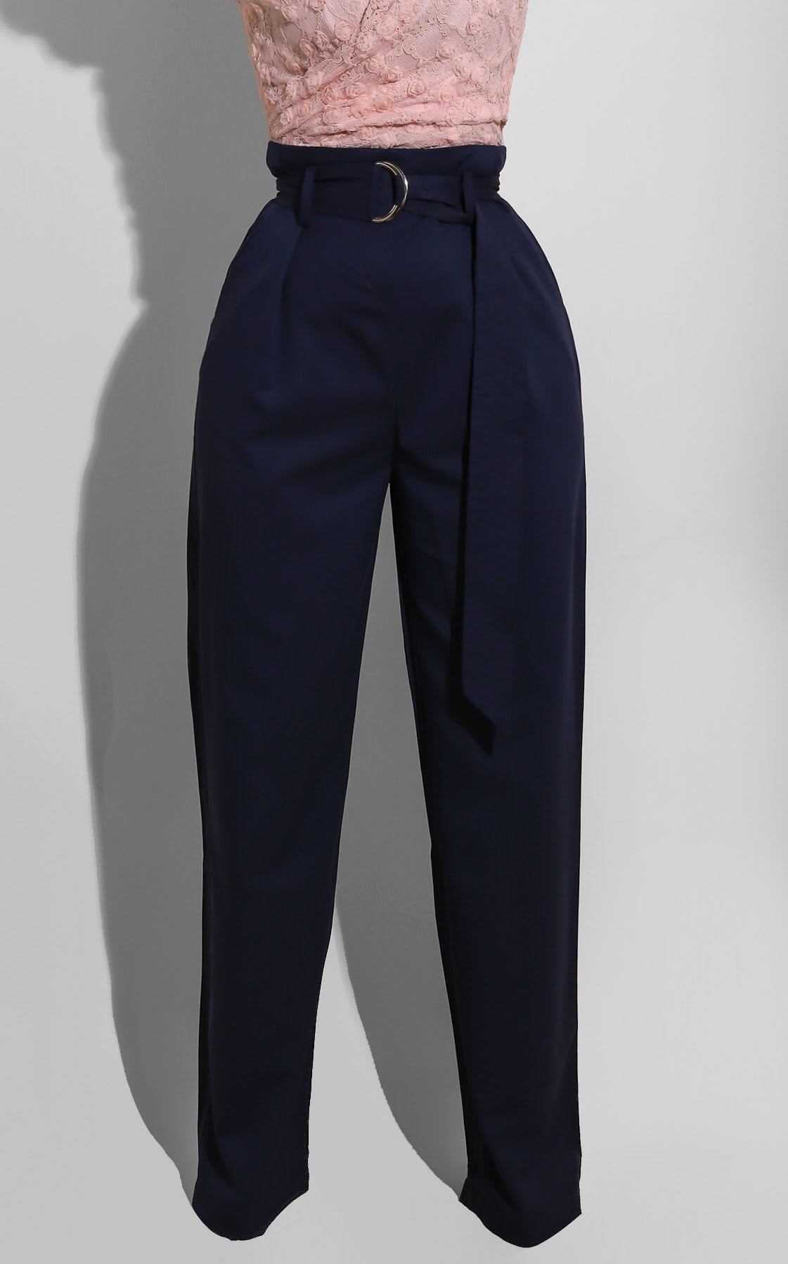 Belted Trouser Navy