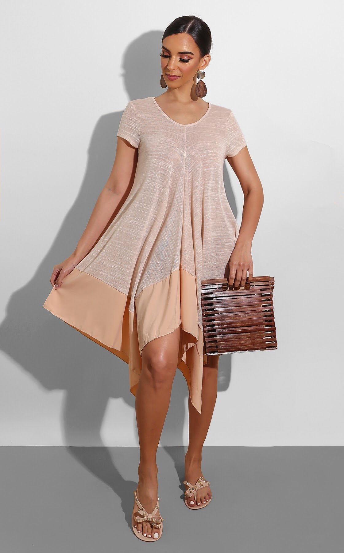 Backyard Picnic Dress Nude