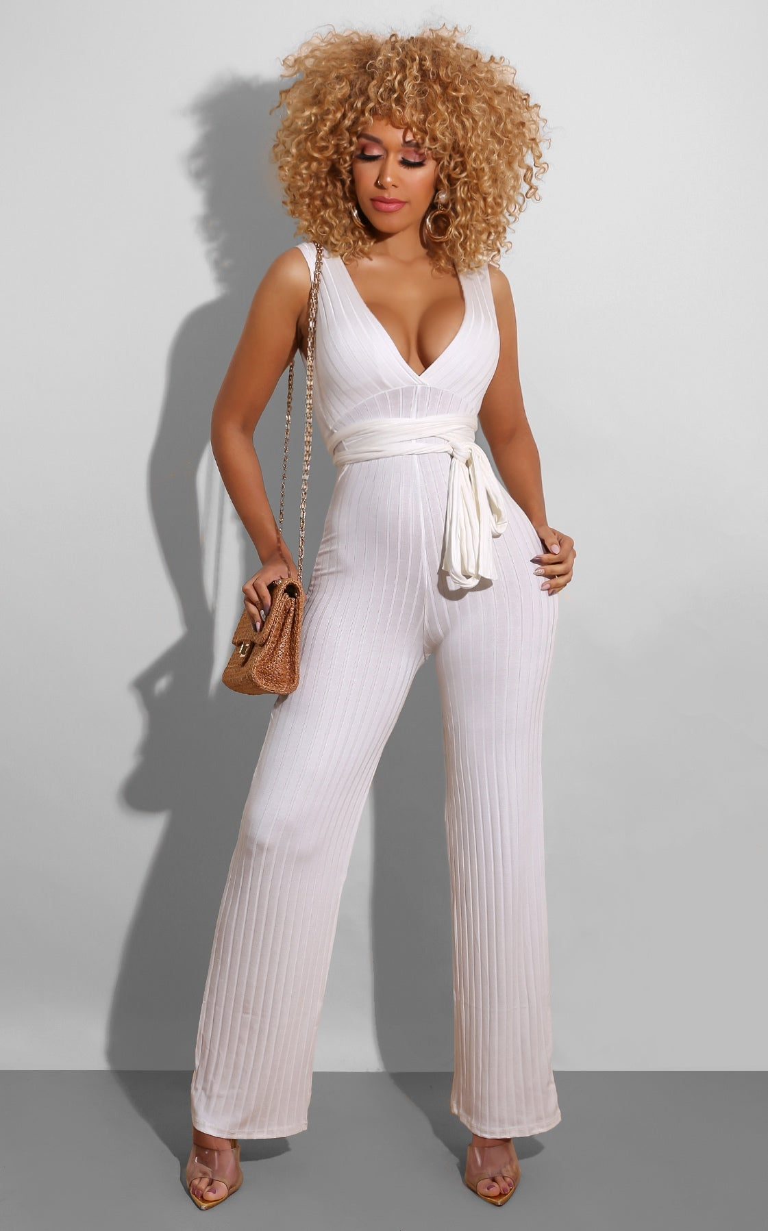 Stassie Jumpsuit White