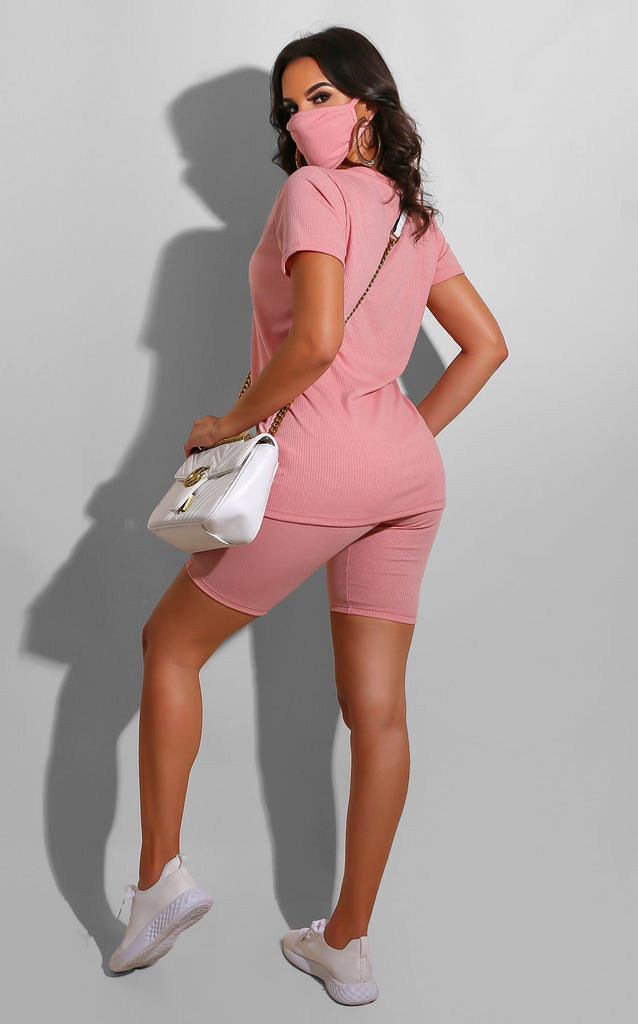 Ribbed Everyday Set Pink