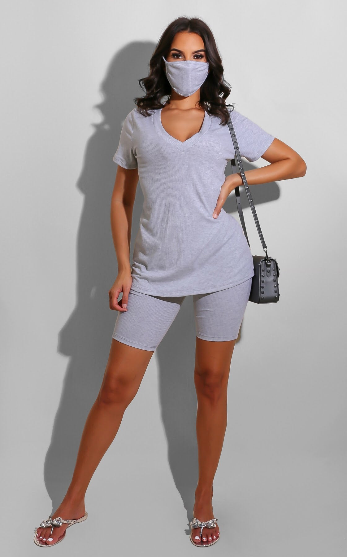 Ribbed Everyday Set Grey
