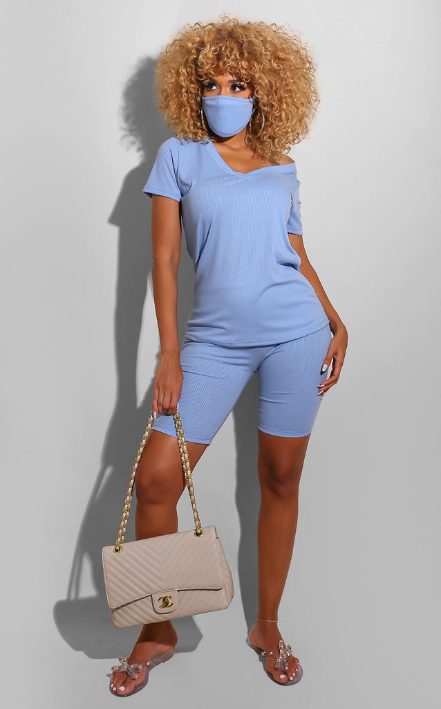 Ribbed Everyday Set Baby Blue