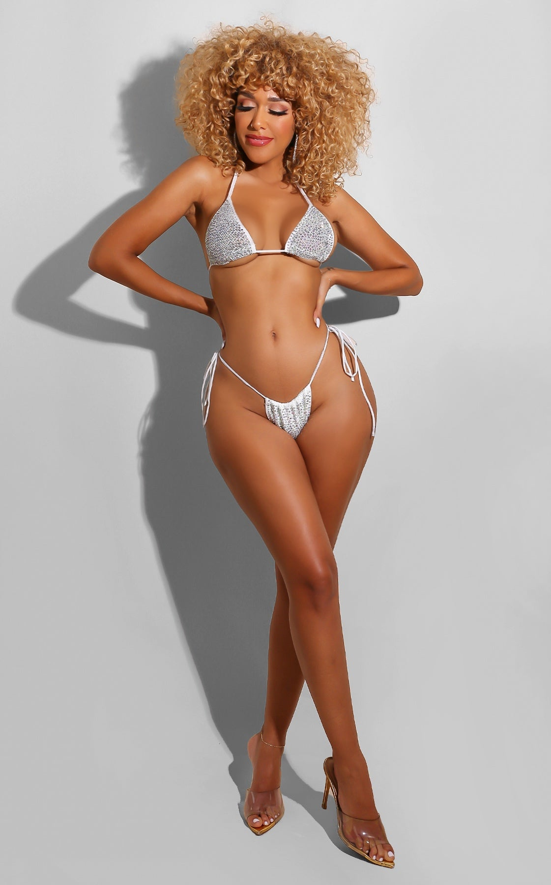 Bling All Day Bikini White