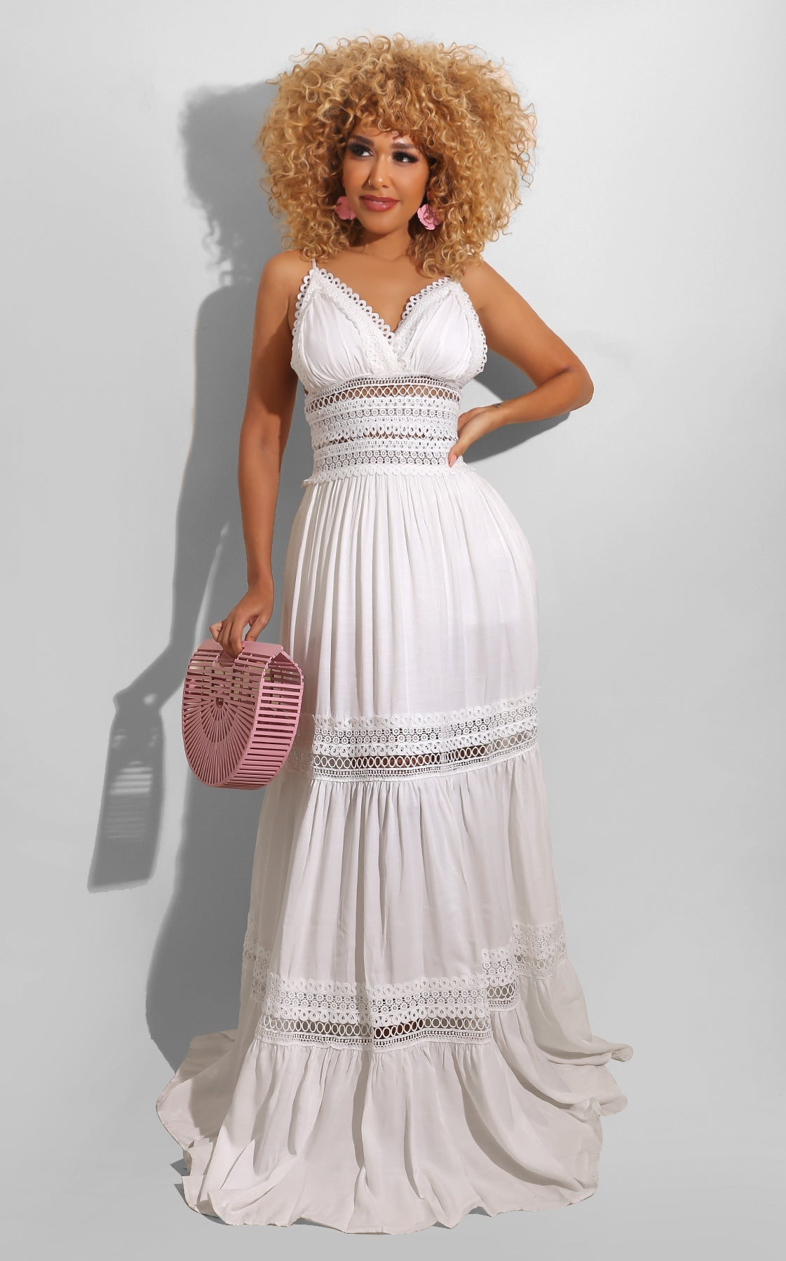Country Summer Maxi White