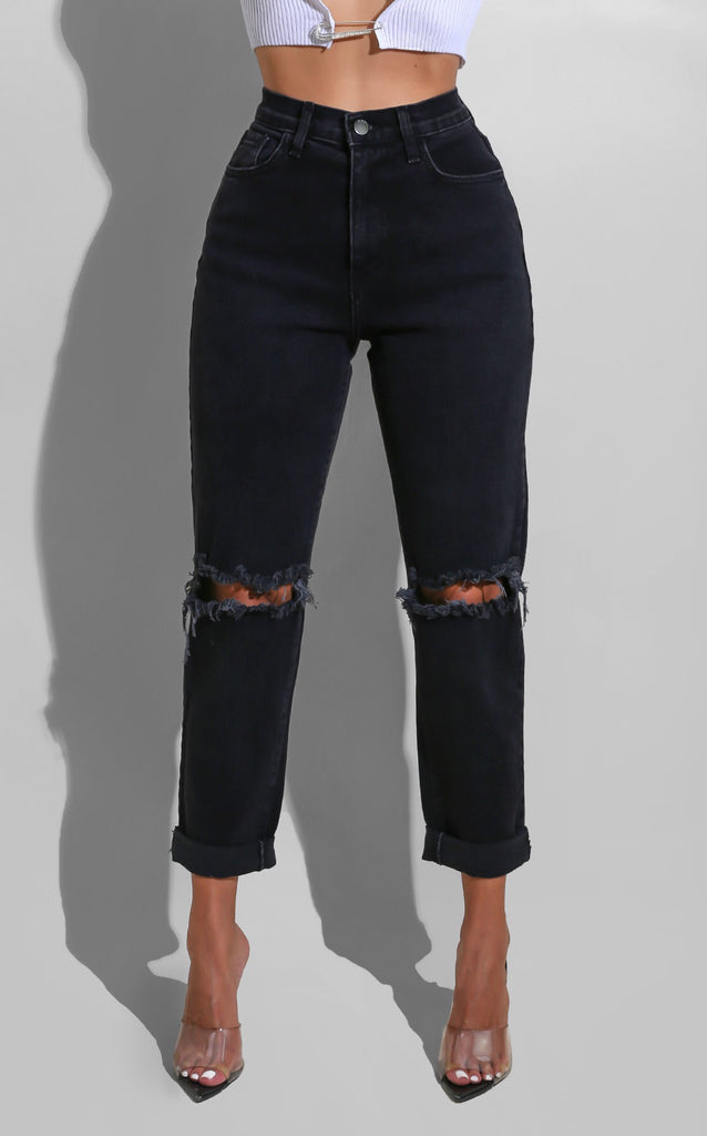 Split-ville Black Denim