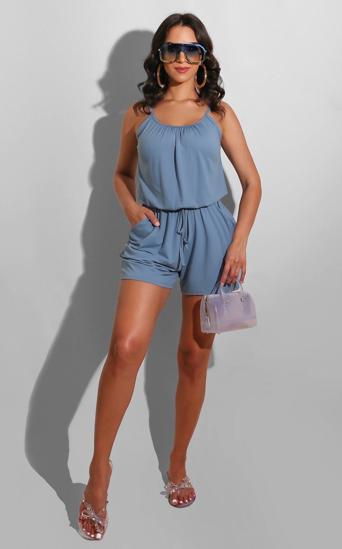 Easy To Wear Romper Baby Blue