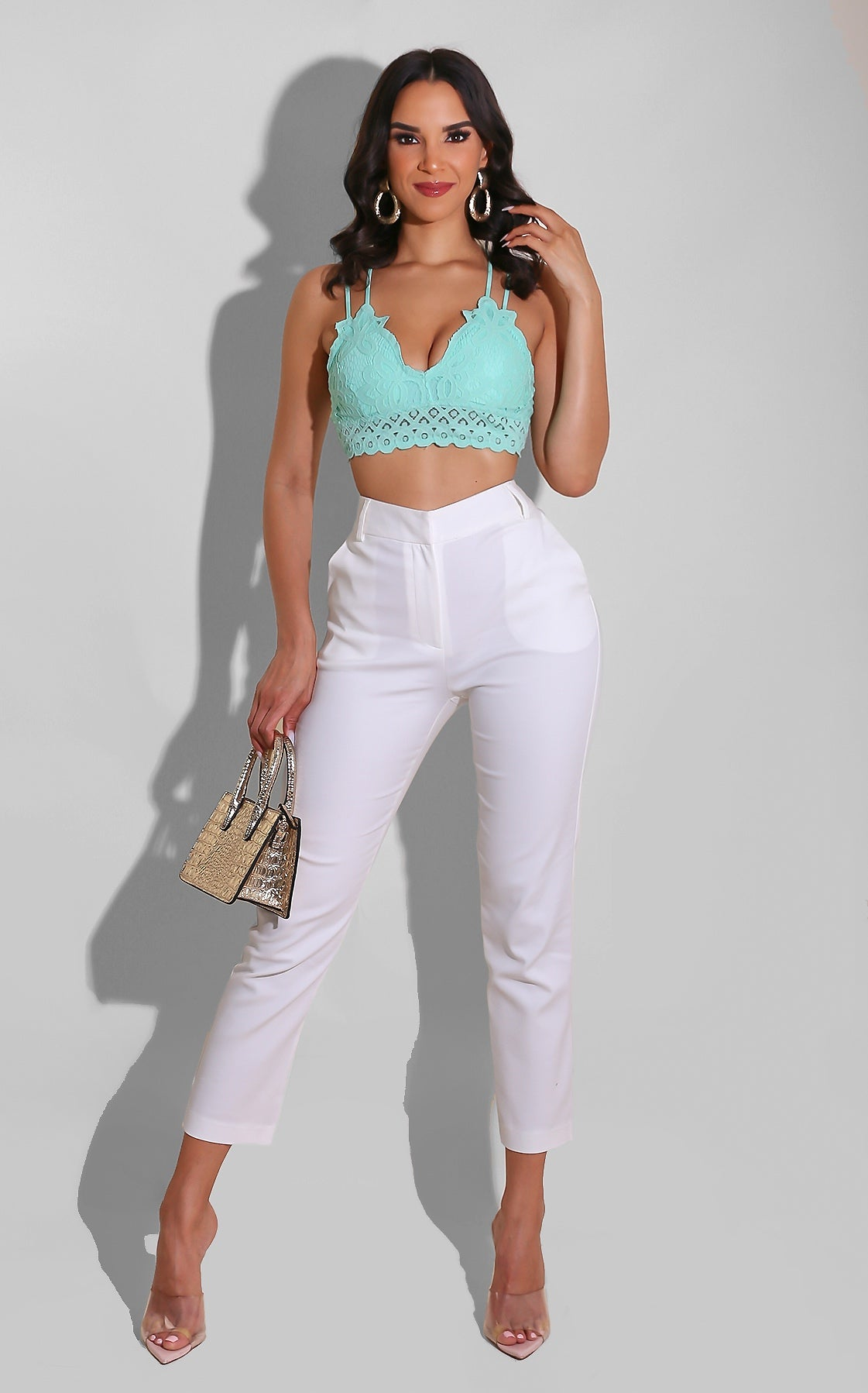Lacey Princess Top Mint